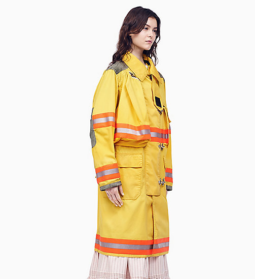 205W39NYC Distressed Fireman Coat - TOURNESOL - 205W39NYC CLOTHES - main image