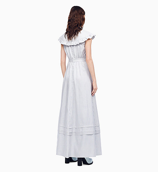 205W39NYC Striped V-Neck Long Pioneer Dress - WHITE BLUE BLACK - 205W39NYC CLOTHES - detail image 1