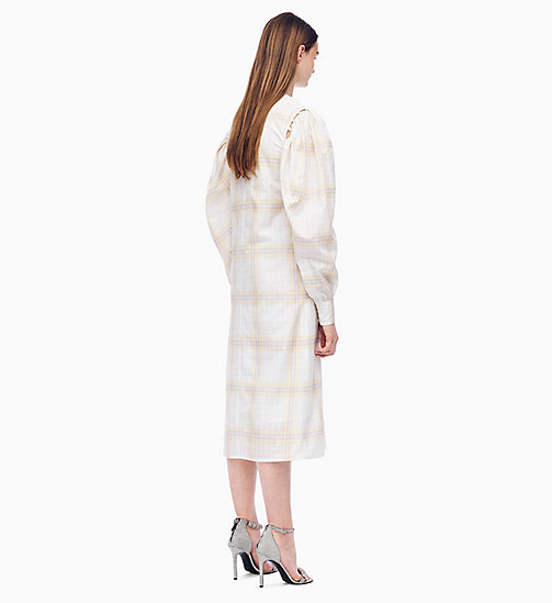 205W39NYC Couture-Sleeve Dress in Plaid - OPTIC WHITE MOUSSE LIGHT PURPLE - 205W39NYC CLOTHES - detail image 1