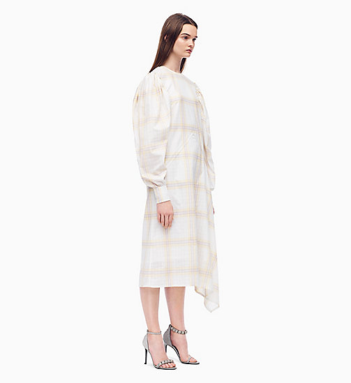 205W39NYC Couture-Sleeve Dress in Plaid - OPTIC WHITE MOUSSE LIGHT PURPLE - 205W39NYC CLOTHES - main image