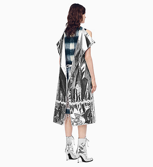 205W39NYC Space Blanket Overdress - SILVER - 205W39NYC CLOTHES - detail image 1