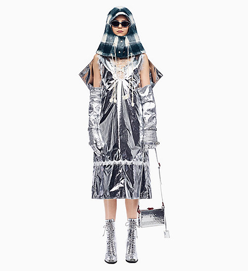 205W39NYC Space Blanket Overdress - SILVER - 205W39NYC CLOTHES - main image