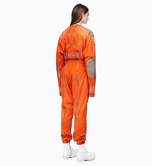 205W39NYC Distressed Fireman Jumpsuit - FLAME ORANGE - 205W39NYC CLOTHES - detail image 1