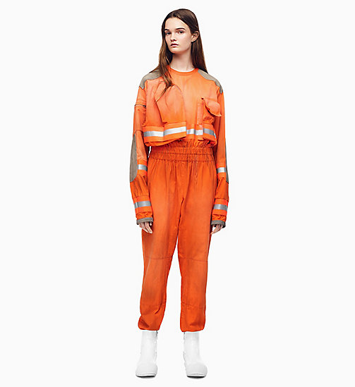 205W39NYC Distressed Fireman Jumpsuit - FLAME ORANGE - 205W39NYC CLOTHES - main image