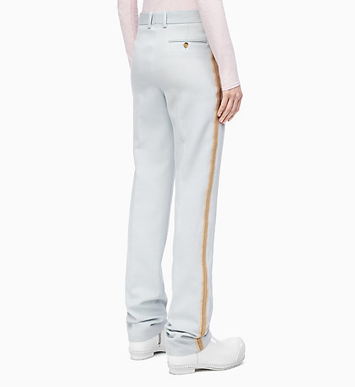 205W39NYC Straight Leg Marching Band Trousers - LIGHT AQUA - 205W39NYC CLOTHES - detail image 1