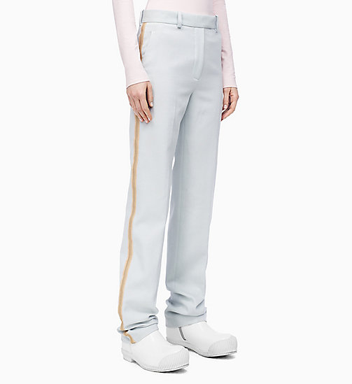 205W39NYC Straight Leg Marching Band Trousers - LIGHT AQUA - 205W39NYC CLOTHES - main image