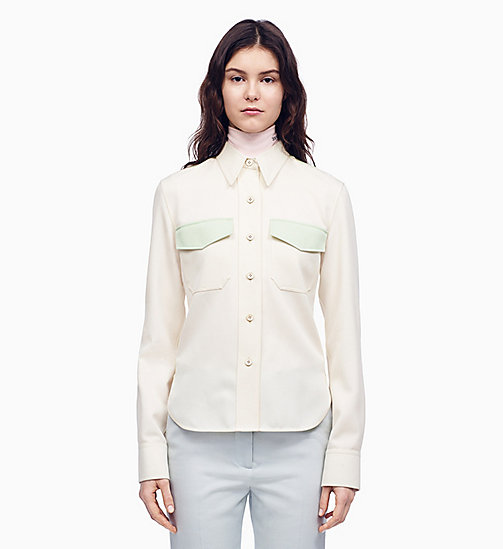 205W39NYC Klassisches Uniform-Shirt im Marschkapellen-Stil - OFF WHITE ARCADIAN GREEN - 205W39NYC KLEIDUNG - main image