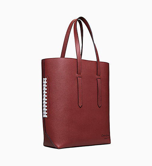 205W39NYC Football Embossed Leather Tote - BROWN - 205W39NYC SHOES & ACCESSORIES - detail image 1
