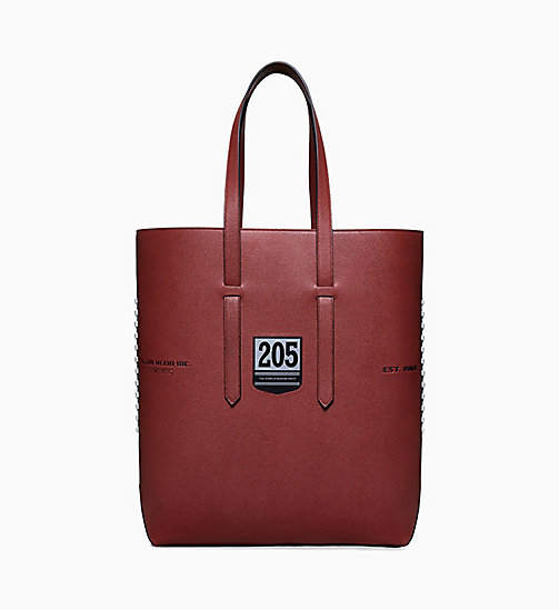 205W39NYC Football Embossed Leather Tote - BROWN - 205W39NYC SHOES & ACCESSORIES - main image