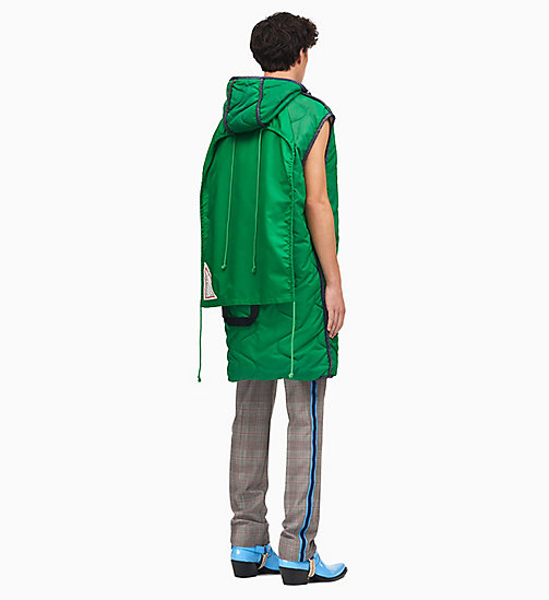 205W39NYC Sleeping Bag Sleeveless Parka - SPRING GREEN - 205W39NYC CLOTHES - detail image 1