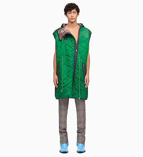 205W39NYC Sleeping Bag Sleeveless Parka - SPRING GREEN - 205W39NYC CLOTHES - main image