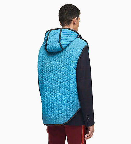 205W39NYC Sleeping Bag Sleeveless Gilet - RIVIERA BLUE - 205W39NYC CLOTHES - detail image 1