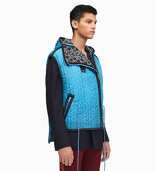 205W39NYC Sleeping Bag Sleeveless Gilet - RIVIERA BLUE - 205W39NYC CLOTHES - main image