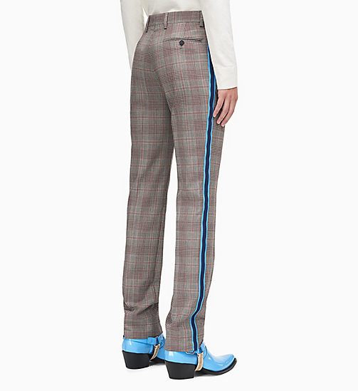 205W39NYC Straight Leg Uniform Stripe Trousers - WHITE BARN RED BLACK AZURE NAVY - 205W39NYC CLOTHES - detail image 1