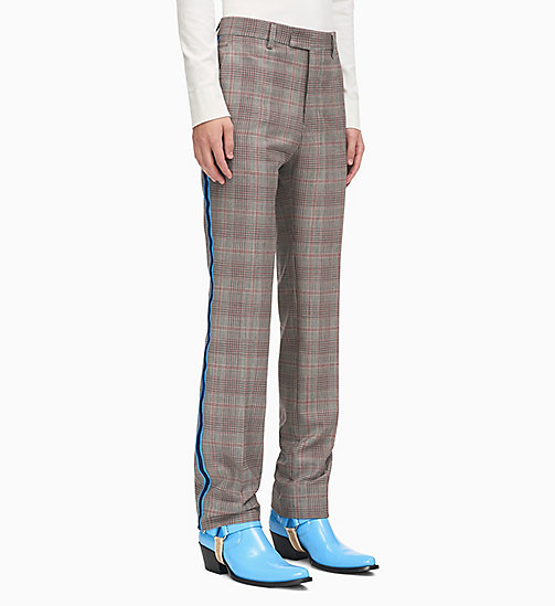 205W39NYC Straight Leg Uniform Stripe Trousers - WHITE BARN RED BLACK AZURE NAVY - 205W39NYC CLOTHES - main image