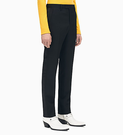 205W39NYC Straight Leg Tuxedo Trousers - BLACK - 205W39NYC CLOTHES - main image