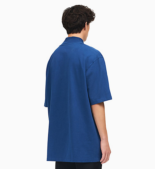 205W39NYC Yale Oversized Mock Neck T-Shirt - YALE BLUE - 205W39NYC CLOTHES - detail image 1
