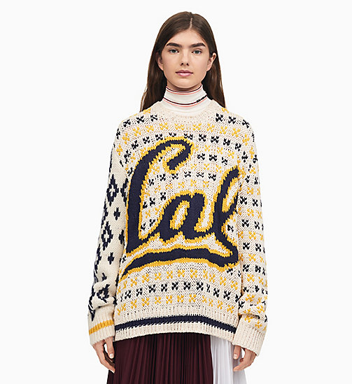 205W39NYC Berkeley Knit Jumper - ECRU TOURNESOL NAVY - 205W39NYC CLOTHES - main image