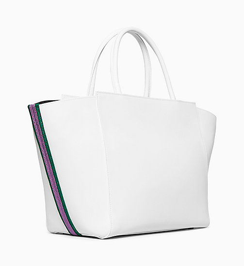 205W39NYC Large Shopper Tote Bag in Calf Leather - OPTIC WHITE - 205W39NYC SHOES & ACCESSORIES - detail image 1