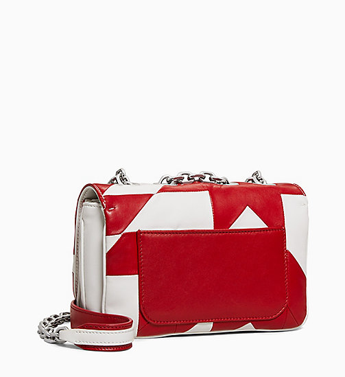 205W39NYC Quilted Small Shoulder Bag in Nappa Leather - RED WHITE - 205W39NYC SHOES & ACCESSORIES - detail image 1