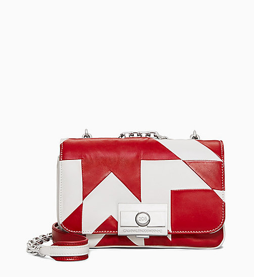 205W39NYC Quilted Small Shoulder Bag in Nappa Leather - RED WHITE - 205W39NYC SHOES & ACCESSORIES - main image