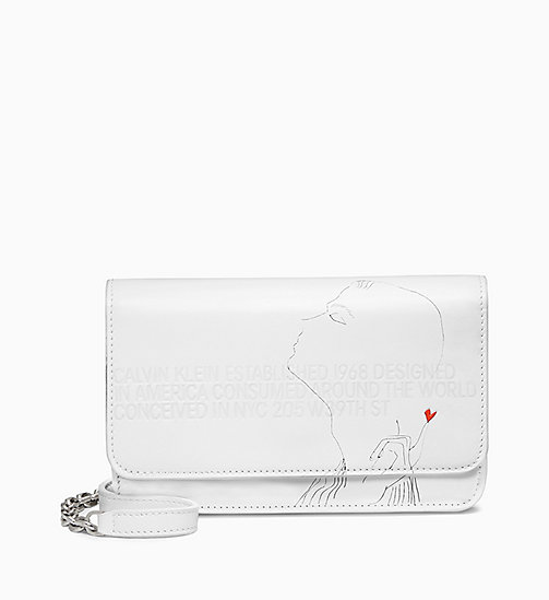 205W39NYC Andy Warhol Mini Leather Cross Body Bag - OPTIC WHITE - 205W39NYC SHOES & ACCESSORIES - main image