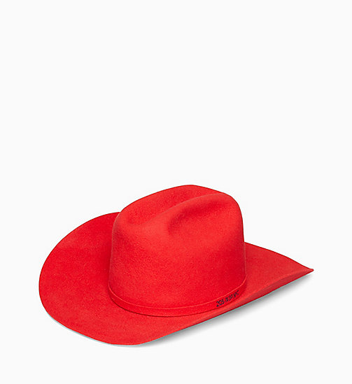 205W39NYC 205W39NYC Cowboy Hat - BRILLIANT RED - 205W39NYC CLOTHES - main image