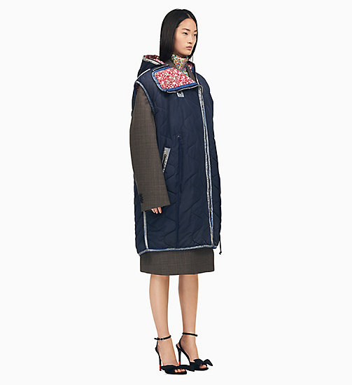 205W39NYC Sleeping Bag Sleeveless Parka - NAVY - 205W39NYC CLOTHES - main image