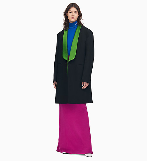 205W39NYC Shawl Collar Tuxedo Coat - BLACK RICHMOND GREEN - 205W39NYC CLOTHES - main image