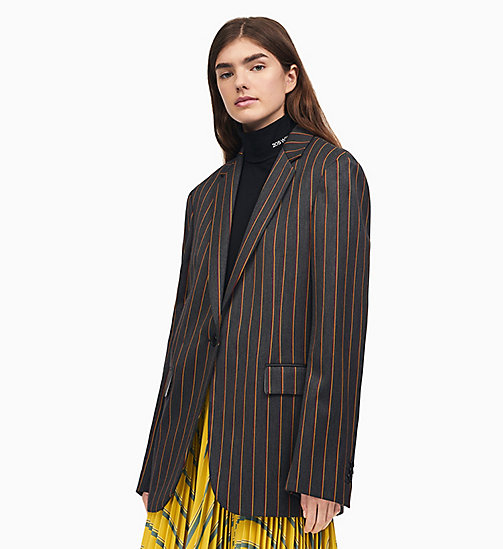 205W39NYC Blazer droit en laine - DARK GREY BURGUNDY YELLOW - 205W39NYC VÊTEMENTS - image principale