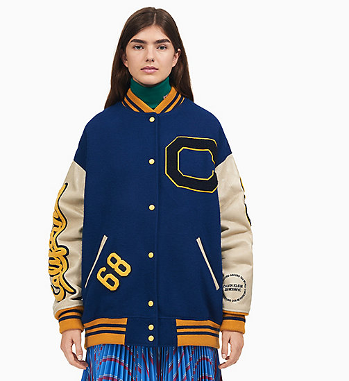 205W39NYC College-Bomberjacke im Oversized-Design - BLUE ICE - 205W39NYC KLEIDUNG - main image