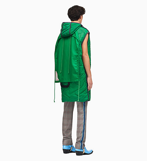 205W39NYC Sleeping Bag Sleeveless Gilet - SPRING GREEN - 205W39NYC CLOTHES - detail image 1