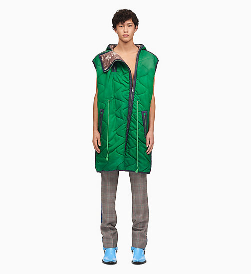 205W39NYC Sleeping Bag Sleeveless Gilet - SPRING GREEN - 205W39NYC CLOTHES - main image