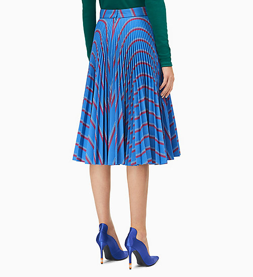 205W39NYC Soleil Pleated Skirt in Heavy Twill - BLEUET RED WHITE BLACK - 205W39NYC CLOTHES - detail image 1