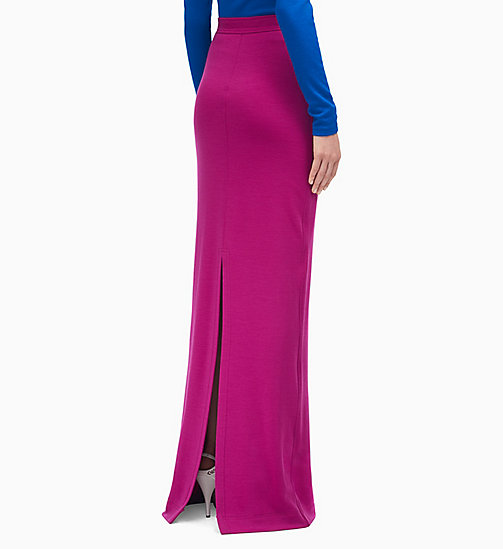 205W39NYC High Waist Long Skirt in Wool Jersey - BRIGHT PURPLE - 205W39NYC CLOTHES - detail image 1