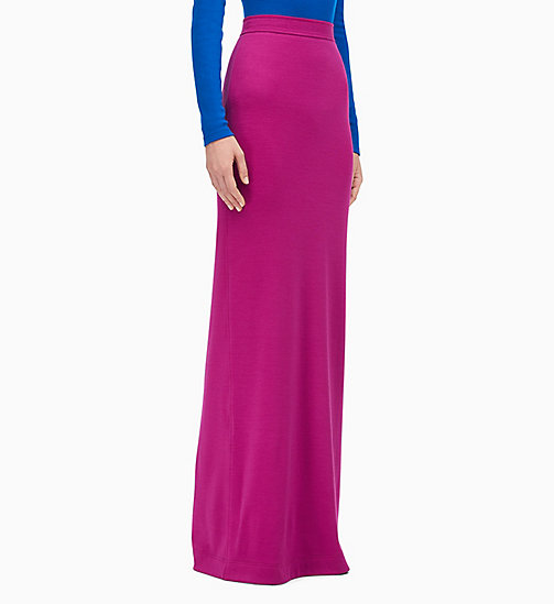 205W39NYC High Waist Long Skirt in Wool Jersey - BRIGHT PURPLE - 205W39NYC CLOTHES - main image