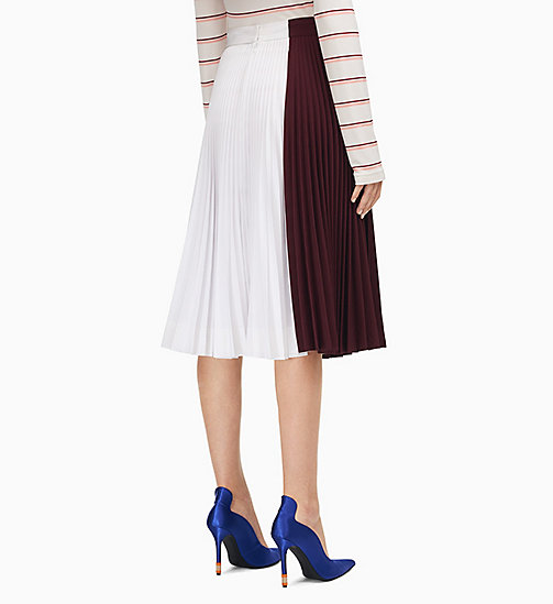 205W39NYC Colourblock Soleil Pleated Skirt - ACAJOU OPTIC WHITE - 205W39NYC CLOTHES - detail image 1