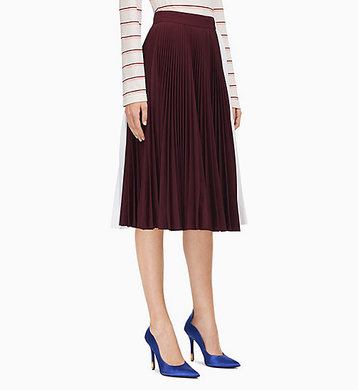 205W39NYC Colourblock Soleil Pleated Skirt - ACAJOU OPTIC WHITE - 205W39NYC CLOTHES - main image