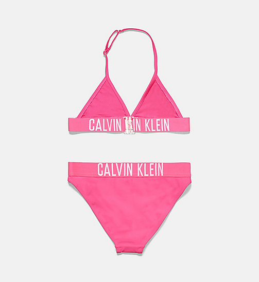 CALVINKLEIN Girls Triangle Bikini Set - Intense Power - PINK GLO - CALVIN KLEIN Girls - detail image 1