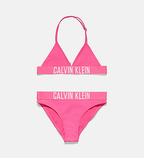 CALVINKLEIN Girls Triangle Bikini Set - Intense Power - PINK GLO - CALVIN KLEIN Girls - main image