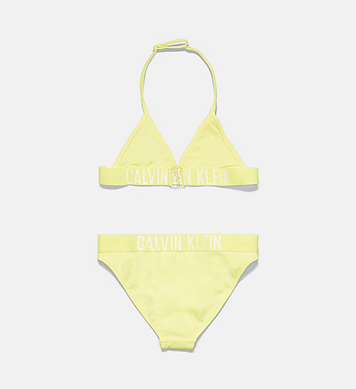 CALVINKLEIN Ensemble bikini triangle fille - Intense Power - LEMON TONIC - CALVIN KLEIN FILLES - image détaillée 1