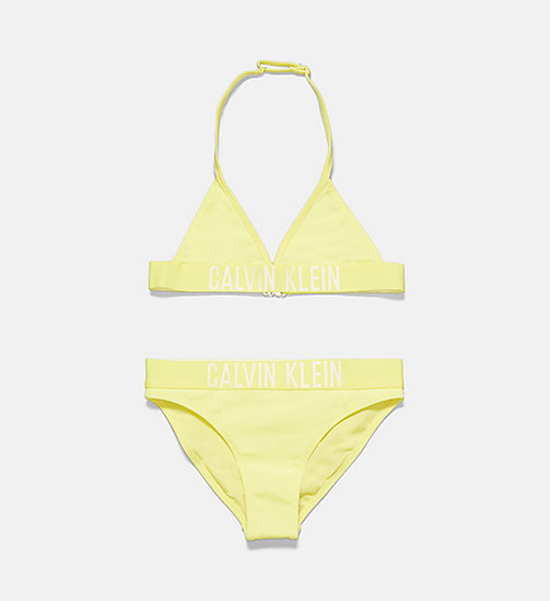 CALVINKLEIN Girls Triangle Bikini Set - Intense Power - LEMON TONIC - CALVIN KLEIN Girls - main image