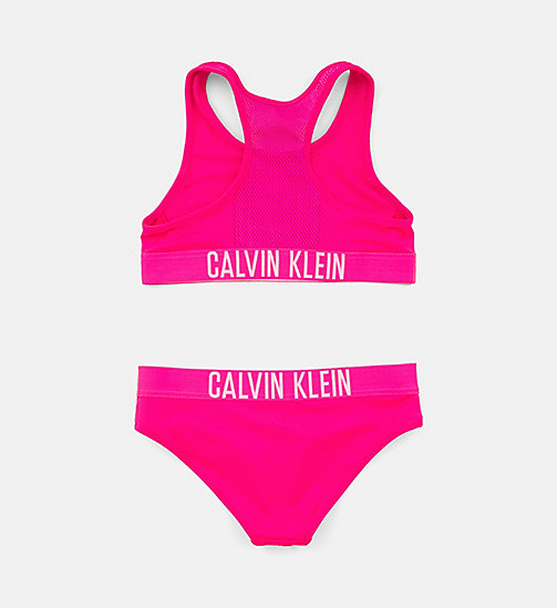 CALVINKLEIN Girls Bralette Bikini Set - Intense Power - PINK GLO - CALVIN KLEIN Girls - detail image 1