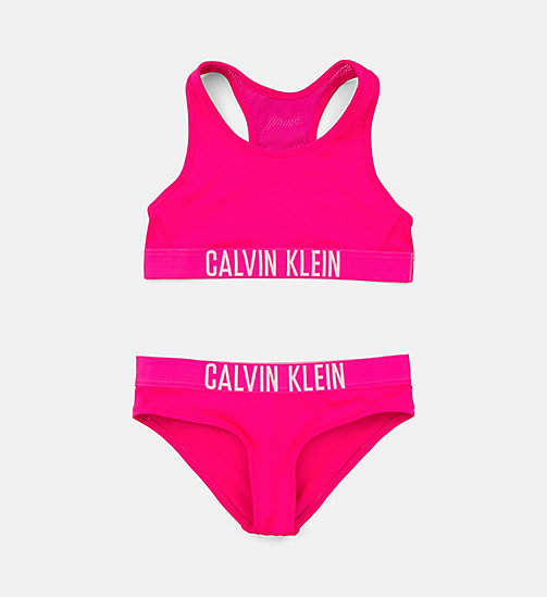 CALVINKLEIN Girls Bralette Bikini Set - Intense Power - PINK GLO - CALVIN KLEIN Girls - main image