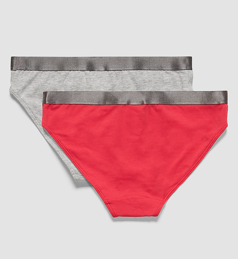 CALVINKLEIN 2 Pack Girls Bikini - Customized Stretch - 1 CALYPSO CORAL/ 1 LILAC ROSE - CALVIN KLEIN UNDERWEAR - detail image 1