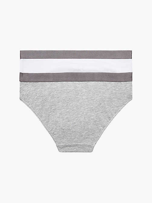 CALVINKLEIN 2 Pack Girls Bikini - Customized Stretch - 1 GREY HEATHER/ 1 WHITE - CALVIN KLEIN UNDERWEAR - detail image 1