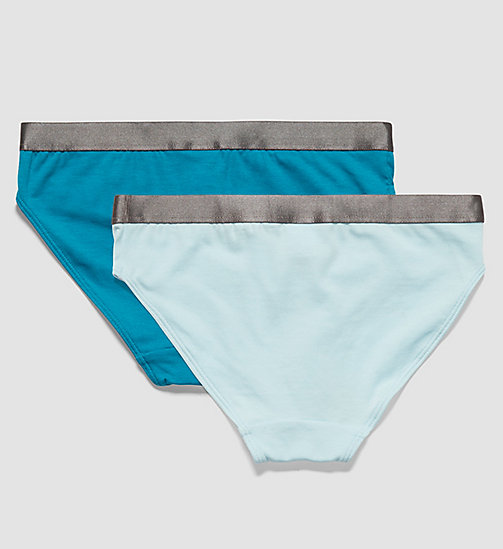 CALVINKLEIN 2 Pack Girls Bikini - Customized Stretch - 1 CORYDALIS BLUE / 1 MOSAIC BLUE - CALVIN KLEIN UNDERWEAR - detail image 1