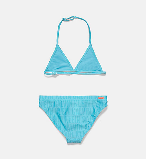 CALVINKLEIN Girls Triangle Bikini Set - Tonic - TONIC PRINT SCUBA BLUE - CALVIN KLEIN Girls - detail image 1