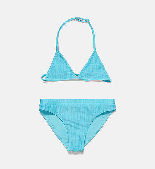 CALVINKLEIN Girls Triangle Bikini Set - Tonic - TONIC PRINT SCUBA BLUE - CALVIN KLEIN Girls - main image