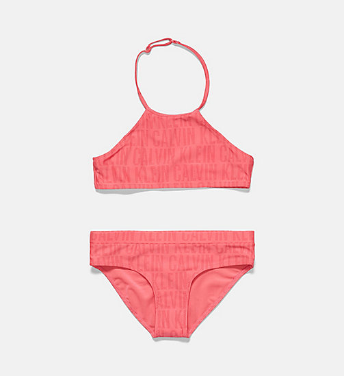 CALVINKLEIN Girls Tankini Set - Tonic - CK TONIC PT ROUGE RED -  Girls - main image